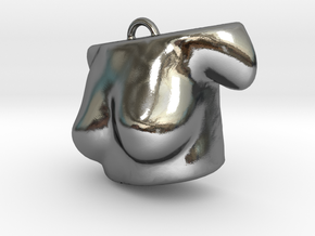 3D scared body- Pendent in Polished Silver