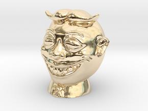 Tillie Knickknack/Ornament 2 inch diameter in 14K Gold