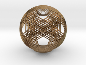 Woven Sphere 2 in Natural Brass