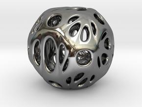 hydrangea ball 06 in Fine Detail Polished Silver