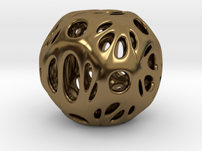 hydrangea ball 06 in Polished Bronze