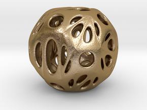 hydrangea ball 06 in Polished Gold Steel