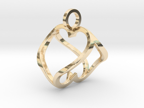 """""""Heart to Heart"""" Pendant in 14k Gold Plated Brass"""