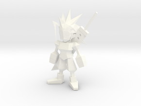 Zack Low Poly in White Strong & Flexible Polished