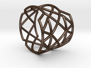 INTERSECTION Ring Nº21 in Polished Bronze Steel