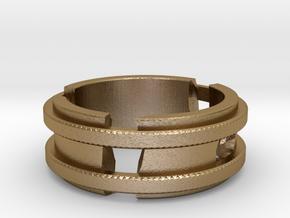 Broken-ring in Polished Gold Steel