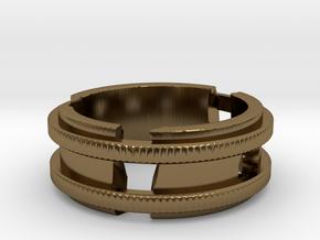 Broken-ring in Polished Bronze