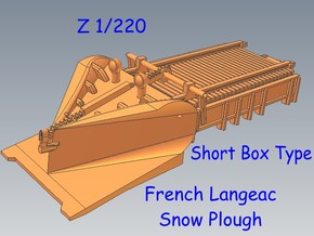 Z 1-220 French Short Langeac Railway Snow Plough in Smooth Fine Detail Plastic