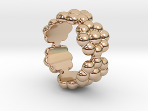 New Flower Ring 15 - Italian Size 15 in 14k Rose Gold Plated Brass