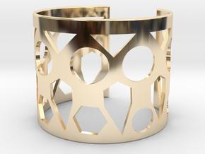 Cubic Bracelet Ø63 Mm Style A Medium/2.48 inch in 14k Gold Plated Brass