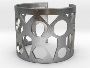 Cubic Bracelet Ø53 Mm Style A XS/2.086 inch in Natural Silver