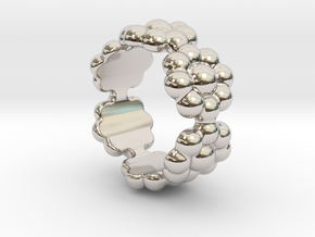 New Flower Ring 16 - Italian Size 16 in Platinum