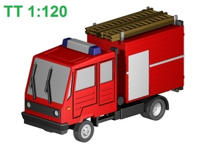 Multicar-Feuerwehr (TT, 1:120) in Frosted Ultra Detail