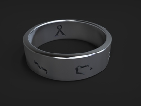 Stargate Ring size 11 (UK size V 1/2) in Polished Silver