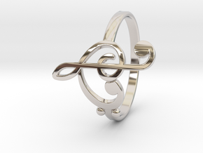 Size 7 Clefs Ring in Platinum