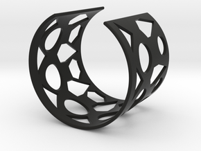 Cubic Bracelet Ø58 Mm Style A S/2.283 inch in Black Natural Versatile Plastic