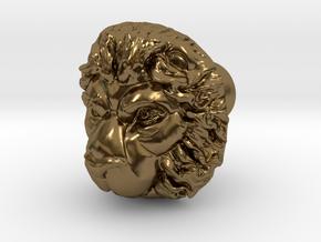 LEON door knob in Polished Bronze
