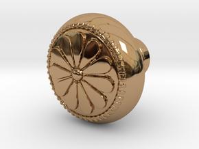 CARINA door knob in Polished Brass