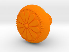 CARINA door knob in Orange Processed Versatile Plastic
