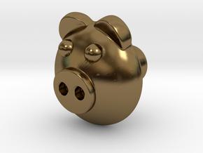 PIGI door knob in Polished Bronze