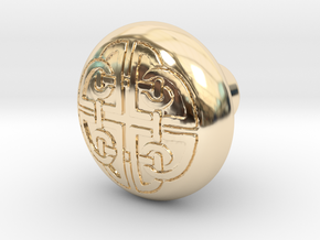 DORADO door knob in 14K Yellow Gold