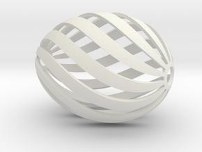 Egg Spiral in White Natural Versatile Plastic