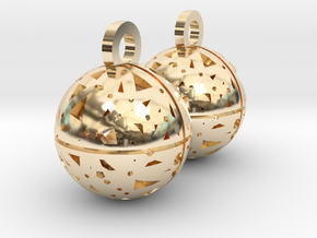 Craters of Mercury Earrings in 14k Gold Plated Brass