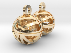 Craters of Mimas Earrings in 14k Gold Plated Brass