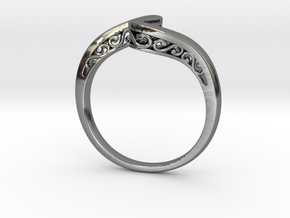 Journeyer Ring Cadiaan in Fine Detail Polished Silver