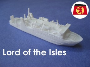 MV Lord of the Isles (1:1200) in White Natural Versatile Plastic