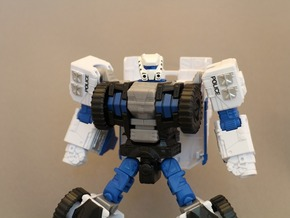 Autorooper Head for Combiner Wars Rook in Smooth Fine Detail Plastic