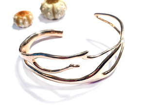 Coral 2 branch cuff in Polished Bronze