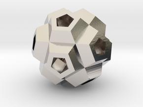 Coral Polyhedron Pendant in Platinum