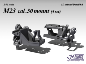 1/35 M23 cal .50 mount (4 set) in Smoothest Fine Detail Plastic
