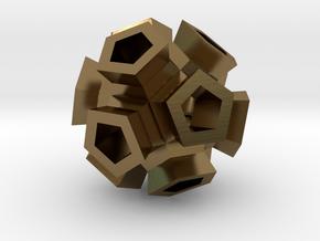 Broccoli Polyhedron Pendant in Polished Bronze