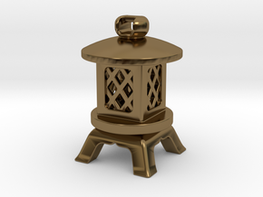 Japanese Stone Lantern A: Tritium (All Materials) in Polished Bronze