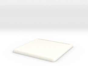 Mini Base Round Lip 100x100 in White Processed Versatile Plastic