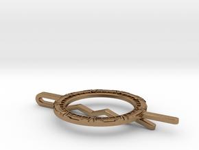 Stargate Tie clip in Natural Brass
