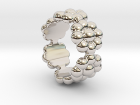 New Flower Ring 22 - Italian Size 22 in Platinum