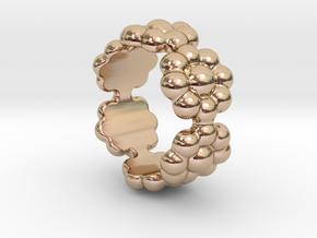 New Flower Ring 22 - Italian Size 22 in 14k Rose Gold Plated Brass