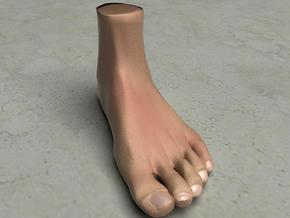"Life Size Foot - 8.7"" - Solid in White Natural Versatile Plastic"