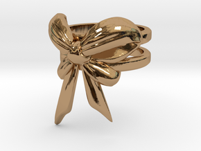 Bow Ring (S7) in Polished Brass