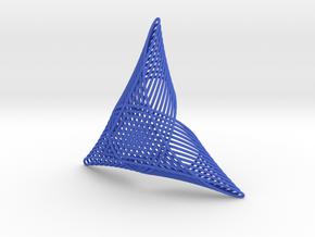Celtic Trefoil Mesh in Blue Processed Versatile Plastic