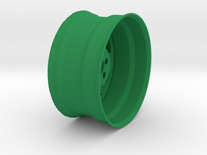 Wheel in Green Processed Versatile Plastic