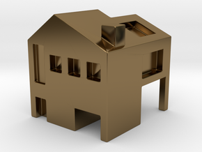 Monopoly house in Polished Bronze