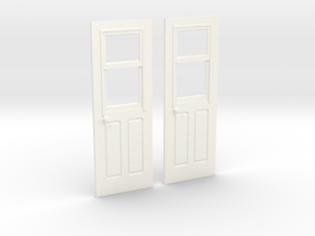 Carter Coach Doors for OR&L 1:20 scale in White Strong & Flexible Polished