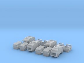 4 Garbage Trucks Z Scale in Smooth Fine Detail Plastic