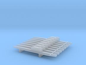 Golf-Class Ballistic Submarine x 8, 1/1800 in Smooth Fine Detail Plastic