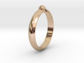 Ø18.19 mm /Ø0.716 inch Arrow Ring Style 2 in 14k Rose Gold Plated Brass