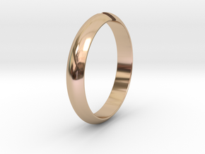 Ø18.19 mm /Ø0.716 inch Arrow Ring Style 1 in 14k Rose Gold Plated Brass